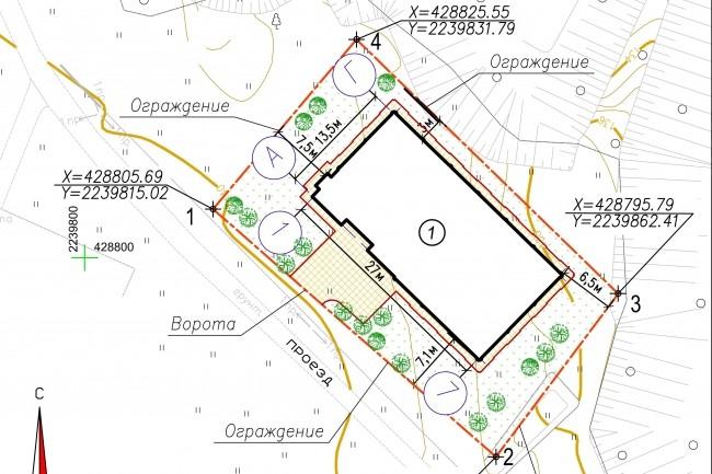 Схема планировочной организации земельного участка - спозу 27 - kwork.ru