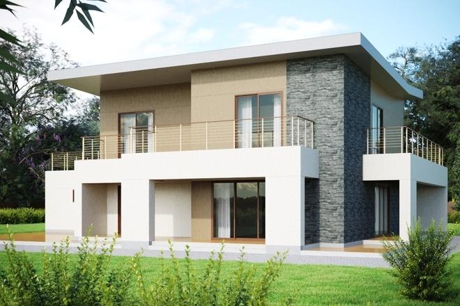 3d визуализация домов из бруса. Визуализация экстерьера 6 - kwork.ru