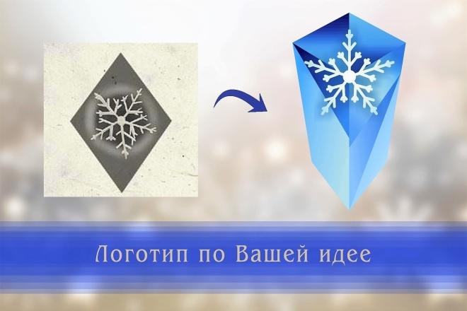 Создам логотип по вашей идее, рисунку 22 - kwork.ru