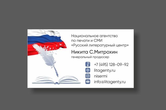 Дизайн визитки 36 - kwork.ru