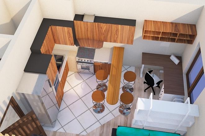 Создам планировку дома, квартиры с мебелью 32 - kwork.ru