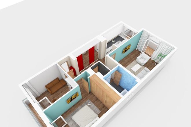 Планировка и перепланировка квартиры, дома, офиса 4 - kwork.ru