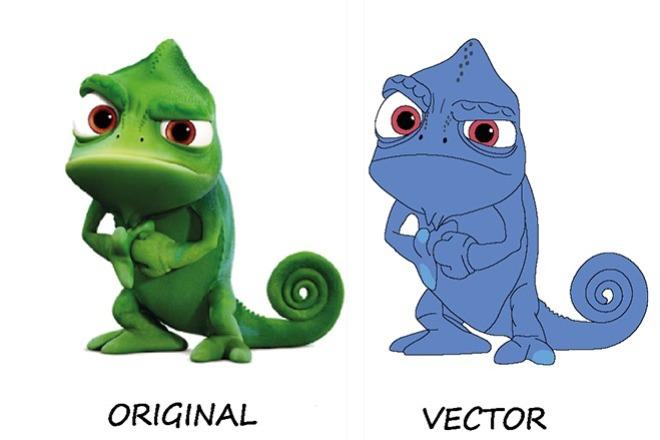 Отрисовка в вектор рисунка или логотипа 2 - kwork.ru