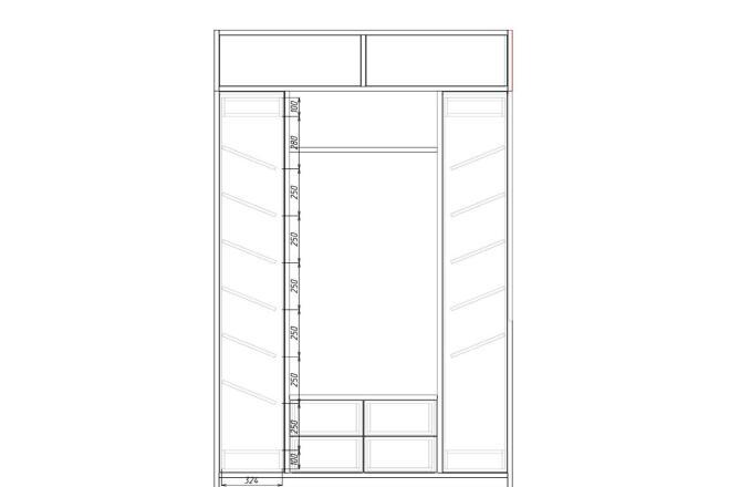 Чертежи мебели для производства в программе базис мебельщик 34 - kwork.ru