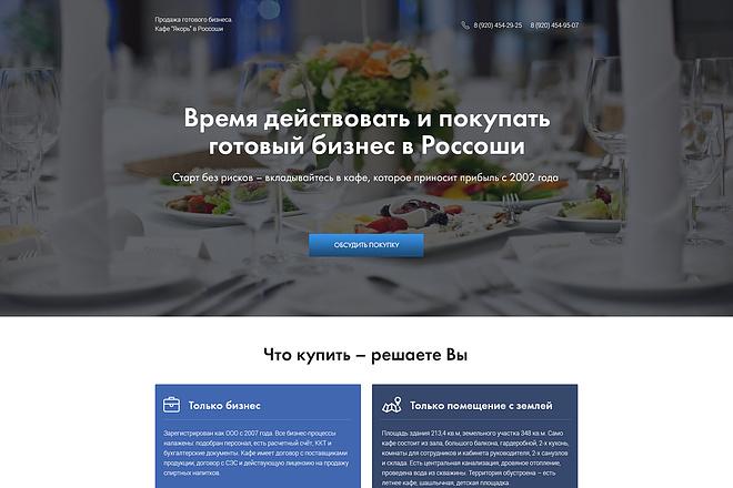 Дизайн страницы Landing Page - Профессионально 25 - kwork.ru