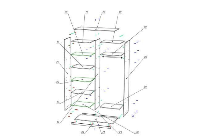 Чертежи мебели для производства в программе базис мебельщик 12 - kwork.ru