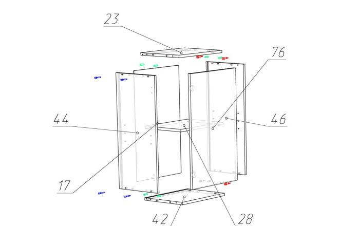 Чертежи мебели для производства в программе базис мебельщик 52 - kwork.ru