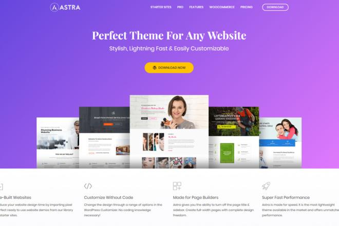 Тема Astra Pro WordPress с плагинами и обновлениями на русском 16 - kwork.ru