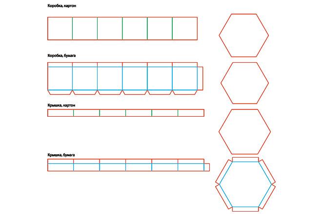 Разработка кроя упаковки из картона или микрогофрокартона 39 - kwork.ru