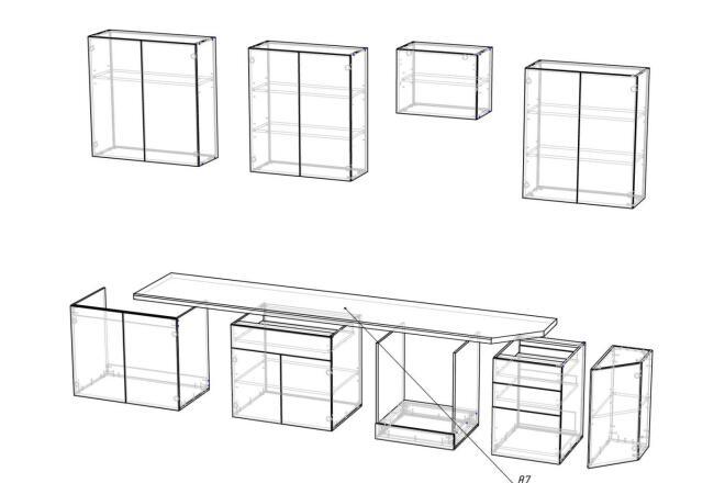 Чертежи мебели для производства в программе базис мебельщик 24 - kwork.ru
