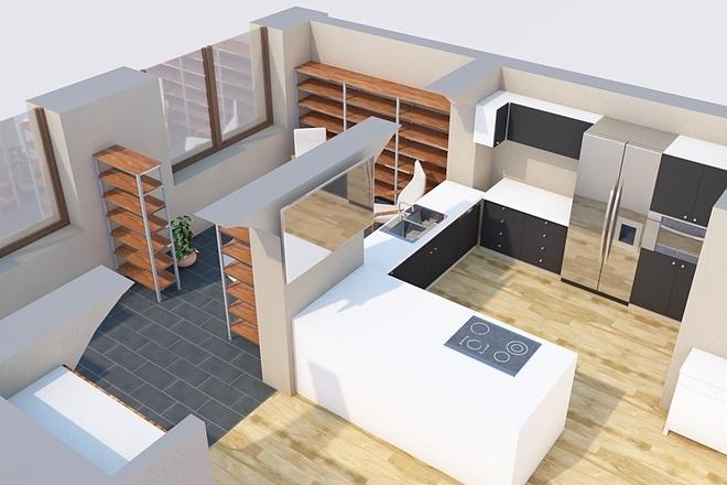 Создам планировку дома, квартиры с мебелью 25 - kwork.ru