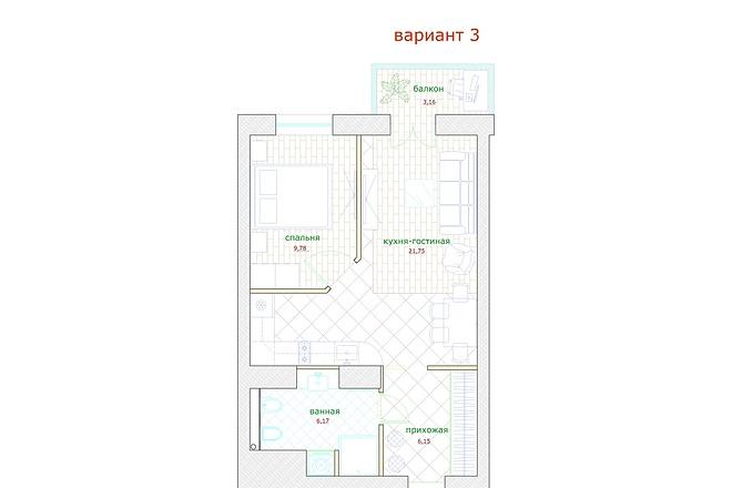 Планировка и перепланировка квартиры, дома и других помещений 13 - kwork.ru