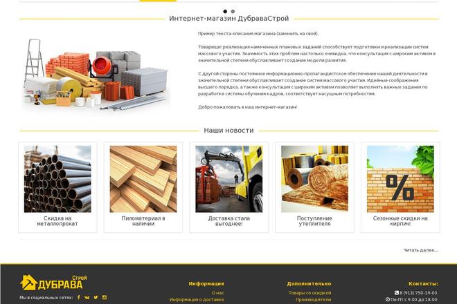 Профессиональный Интернет-магазин на Opencart 36 - kwork.ru