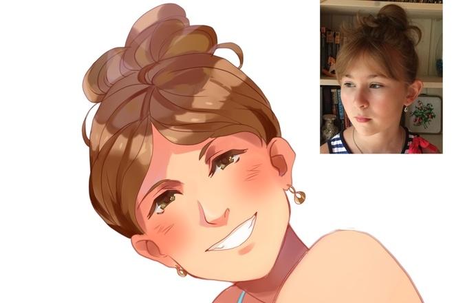 Создам ваш портрет в стиле аниме 20 - kwork.ru