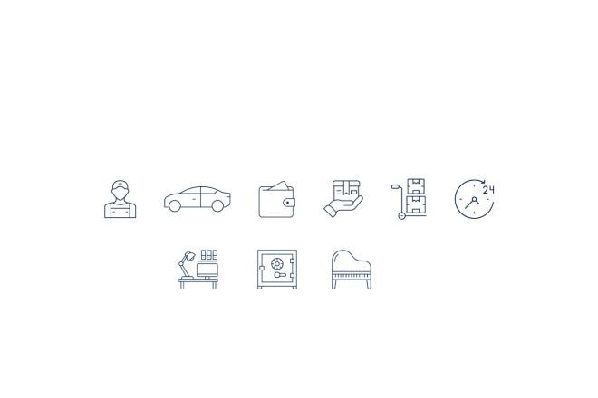 Создам 4 иконки в любом стиле, для лендинга, сайта или приложения 5 - kwork.ru