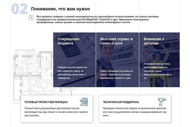 Верстка страницы сайта или лендинга из вашего PSD 20 - kwork.ru