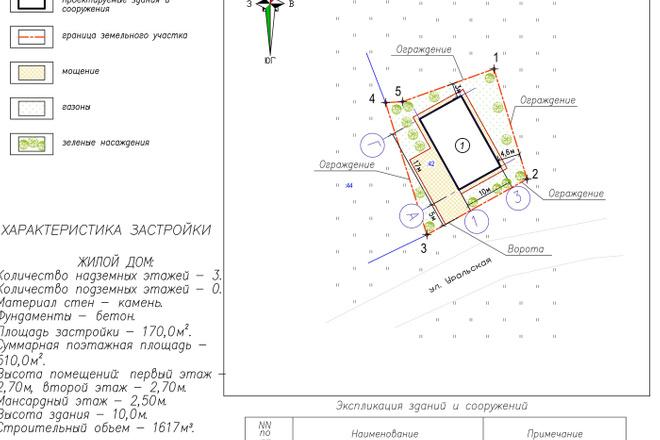 Схема планировочной организации земельного участка - спозу 7 - kwork.ru