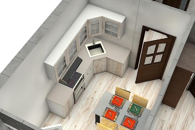 Создам планировку дома, квартиры с мебелью 41 - kwork.ru