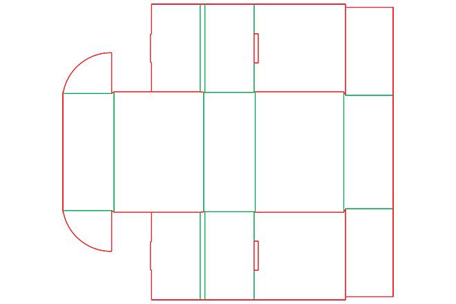 Разработка кроя упаковки из картона или микрогофрокартона 7 - kwork.ru