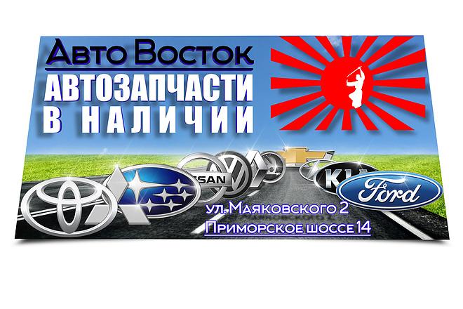 Объёмный и яркий баннер 36 - kwork.ru