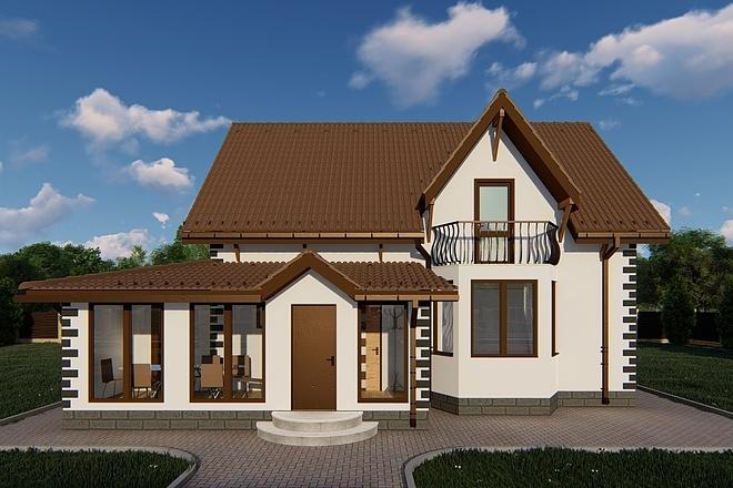 Фотореалистичная 3D визуализация экстерьера Вашего дома 43 - kwork.ru