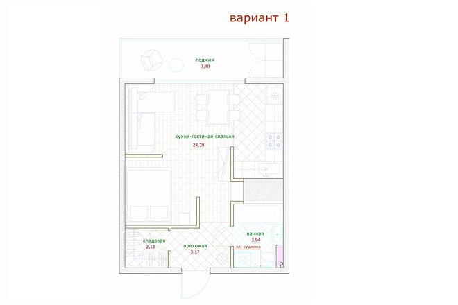 Планировка и перепланировка квартиры, дома и других помещений 46 - kwork.ru