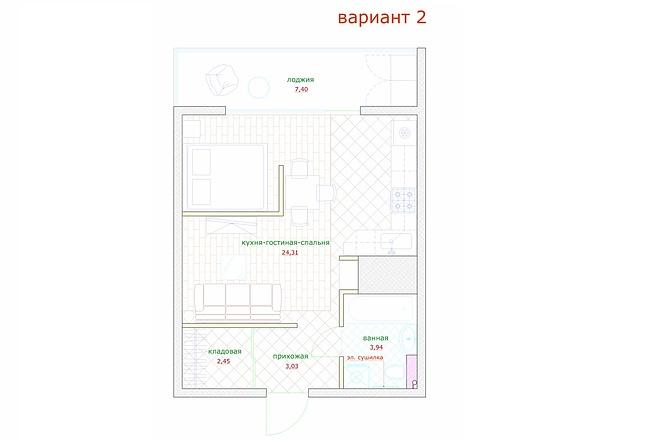 Планировка и перепланировка квартиры, дома и других помещений 45 - kwork.ru