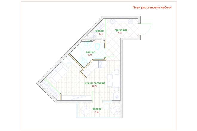 Планировка и перепланировка квартиры, дома и других помещений 23 - kwork.ru