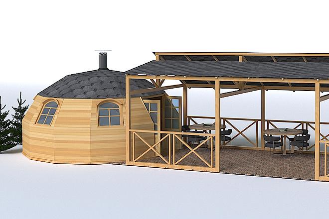 Выполню 3D модель и визуализацию в среде 13 - kwork.ru