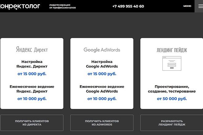 Скопирую Landing Page, Одностраничный сайт 33 - kwork.ru