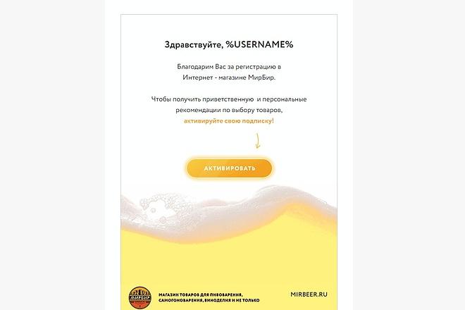 Html письмо шаблон для E-mail емайл рассылки. Дизайн и верстка 15 - kwork.ru