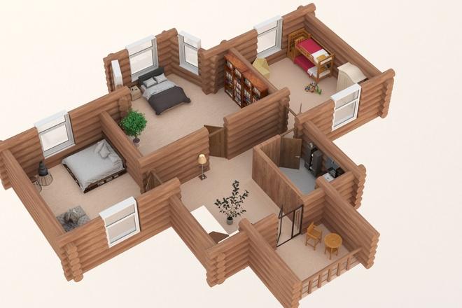 3d визуализация плана помещения 30 - kwork.ru