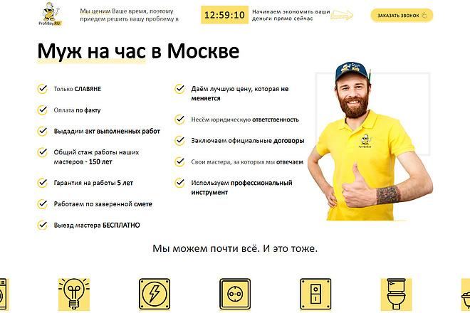 Скопирую Landing Page, Одностраничный сайт 61 - kwork.ru