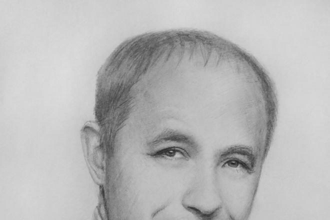 Нарисую портрет карандашом 1 - kwork.ru