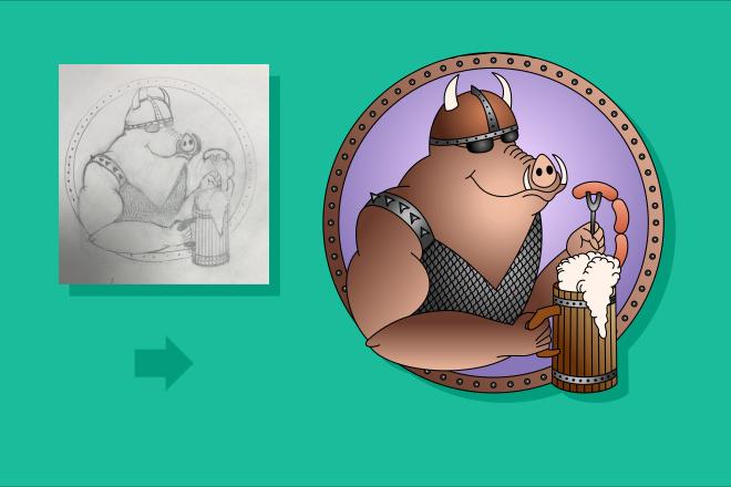 Преобразую в вектор растровое изображение любой сложности 20 - kwork.ru