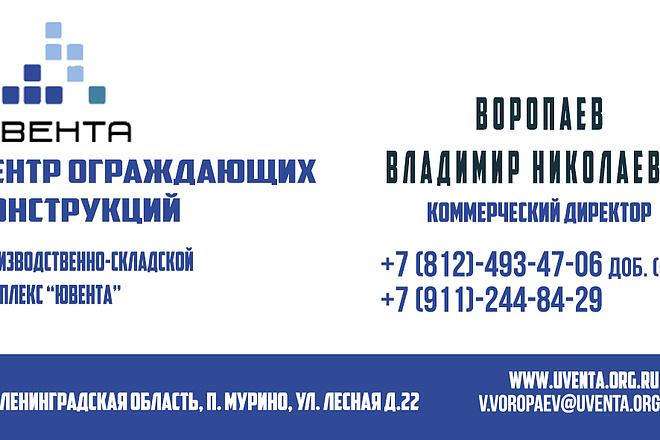 2 варианта дизайна визитки 2 - kwork.ru