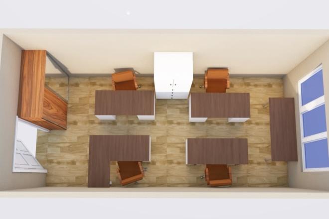 Создам планировку дома, квартиры с мебелью 12 - kwork.ru