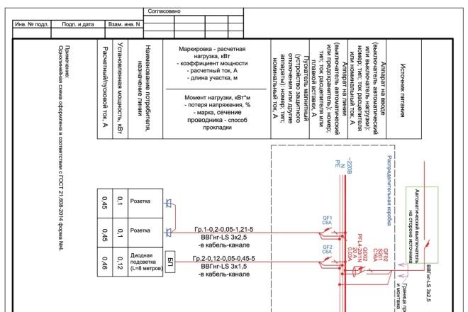 Выполню однолинейную схему электроснабжения 10 - kwork.ru