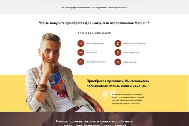 Дизайн страницы Landing Page - Профессионально 22 - kwork.ru