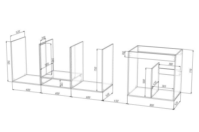Чертежи мебели для производства в программе базис мебельщик 75 - kwork.ru