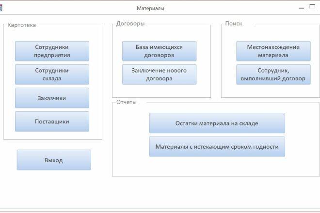 Создам базу в MS Access 13 - kwork.ru