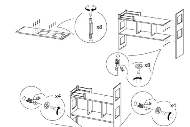 Схема, инструкция сборки мебели 3 - kwork.ru