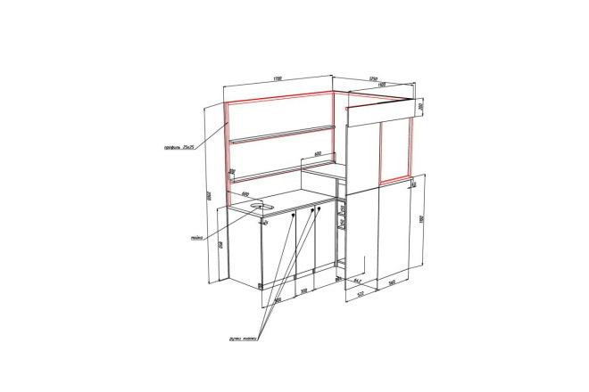 Чертежи мебели для производства в программе базис мебельщик 43 - kwork.ru