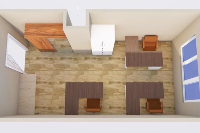 Создам планировку дома, квартиры с мебелью 10 - kwork.ru