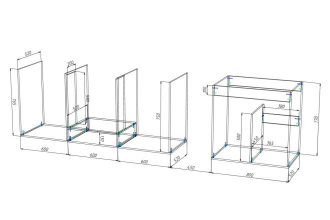 Чертежи мебели для производства в программе базис мебельщик 74 - kwork.ru