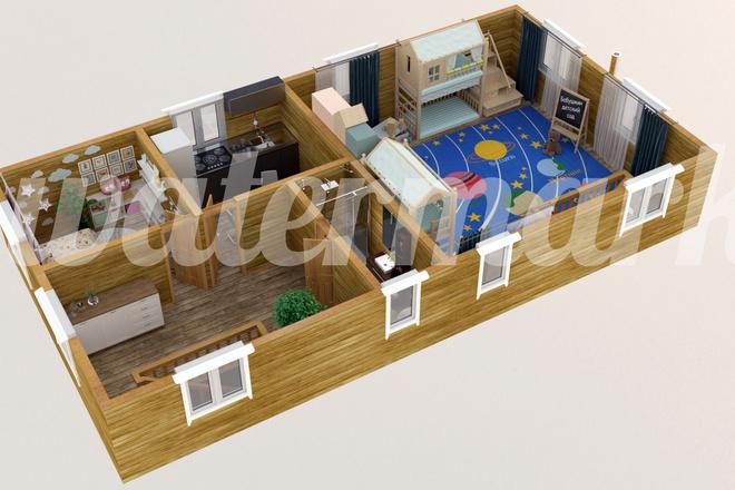 3d визуализация плана помещения 23 - kwork.ru