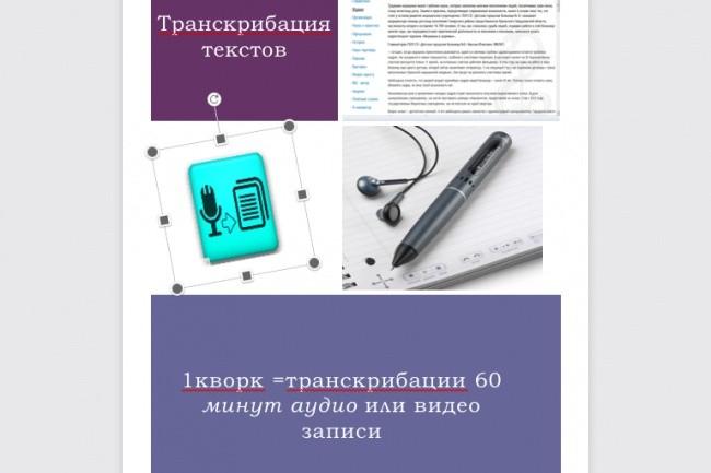 Сделаю транскрибацию любого текста 1 - kwork.ru