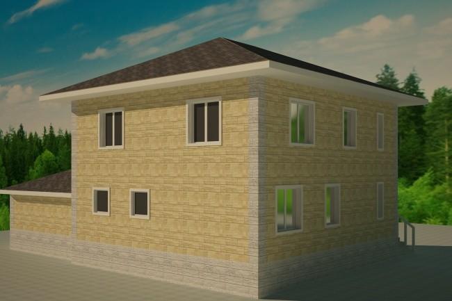 Разработаю фасады дома, дачи - 3D визуализация 1 - kwork.ru