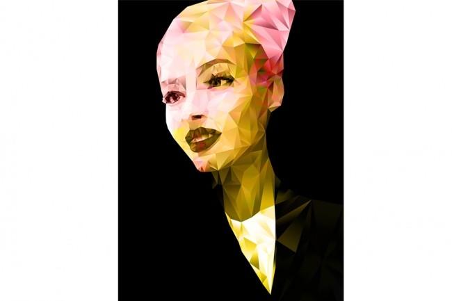 Портрет Art Low Poly Gradient по фото 1 - kwork.ru