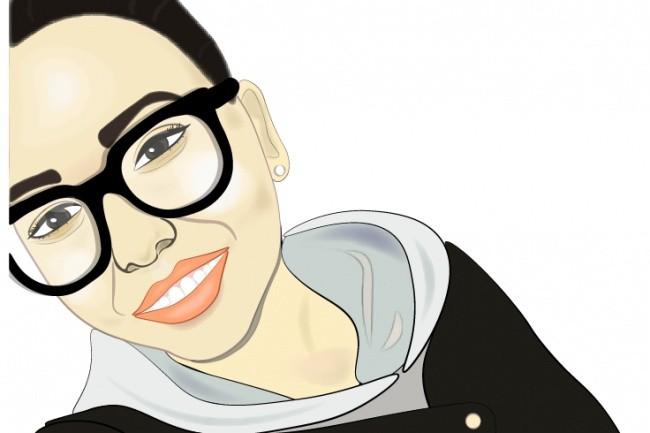 Векторный портрет, иллюстрацию 1 - kwork.ru